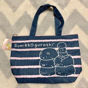 San-X Sumikko Gurashi Tote Zipper Bag NWT